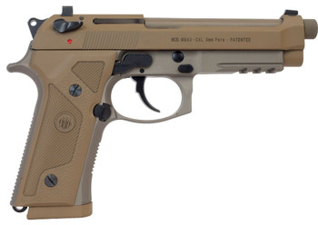 """Beretta M9A3, Semi-automatic, Full, 9MM, 4.9"""", Alloy, Flat Dark Earth, 17Rd, 3 Mags, Ambidextrous, Tritium Night Sights J92M9A3GM, UPC : 082442893327"""