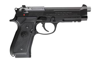 "Beretta 96A1, Double Action, Full Size, 40 S&W, 4.9"" Barrel, Alloy Frame, Blue Finish, Plastic Grips, 3 Dot Sights, 10Rd, 3 Magazines, Tac Rail J9A4F11, UPC : 082442111117"