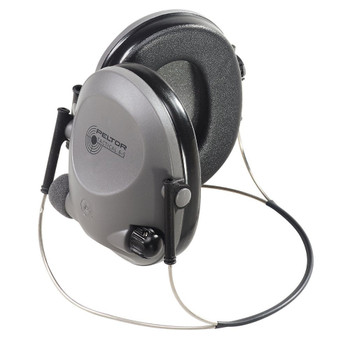 3M/Peltor Electronic Tactical 6S Earmuff, Gray , NRR 19, Behind the Head, Stereo 97043, UPC : 078371970437