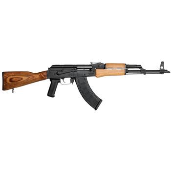 "Century Arms GP/WASR10, Semi-automatic, 762X39, 17"" Barrel, Threaded Slant Brake, Blue Finish, Wood Stock, Adjustable Sights, 30Rd RI1805-N, UPC :787450074477"