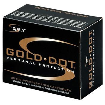 CCI/Speer Speer Gold Dot, 40S&W, 180 Grain, Hollow Point, Short Barrel, 20 Round Box 23974, UPC : 076683239747