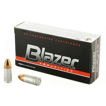 CCI/Speer Blazer, 9mm, 115 Grain, Full Metal Jacket, 50 Round Box 3509, UPC : 076683035097