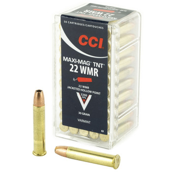 CCI/Speer TNT, 22WMR, 30 Grain, Jacketed Hollow Point, 50 Round Box 63, UPC : 076683000637