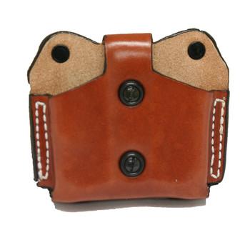 Desantis Double Magazine Pouch, Single Stack 380, Ambidextrous, Tan Leather A01TJBBZ0, UPC :792695215257