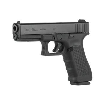 "Glock 31 Gen 4, Safe Action, Full Size Pistol, 357 Sig, 4.48"" Barrel, Polymer Frame, Matte Finish, Fixed Sights, 15Rd, 3 Magazines, Glock OEM Rail PG3150203, UPC :764503702037"