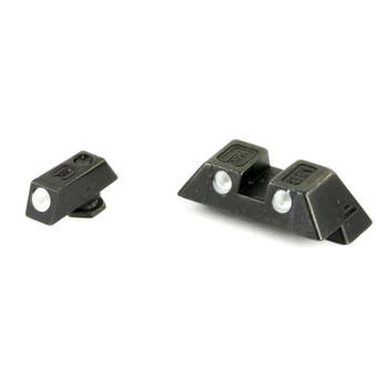 Glock Glock OEM Night Sights, 6.9mm, Fits Glock Models 20,21,29,30,36,37, Green Dot, Steel 39929, UPC :764503019227