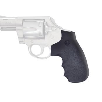 Hogue Grips Monogrip, Colt Detective Special, Finger Groove, Rubber, Diamondback, Black 48000, UPC :743108480007