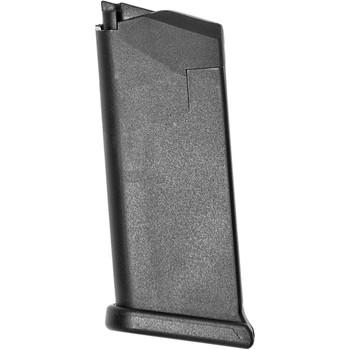 Glock OEM Magazine, 9MM, 6Rd, Fits GLOCK 43, Cardboard Style Packaging, Black Finish MF43106, UPC :764503003967