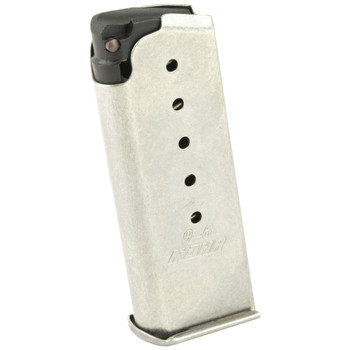 Kahr Arms Magazine, 9MM, 6Rd, Fits MK9, Flush, Stainless Finish MK620, UPC :602686060127