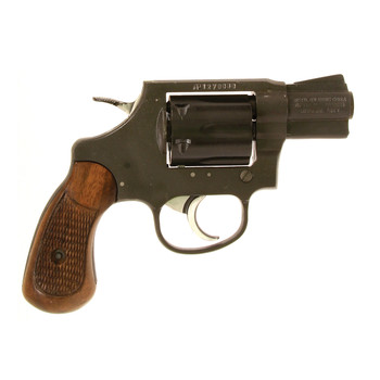 """Armscor 206 Double Action, 38 Special, 2"""" Barrel, Alloy Frame, Blue Finish, Wood Grips, Fixed Sights, Right Hand, 6 Rounds 51283, UPC :4806015512837"""