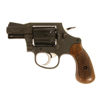 "Armscor 206 Double Action, 38 Special, 2"" Barrel, Alloy Frame, Blue Finish, Wood Grips, Fixed Sights, Right Hand, 6 Rounds 51283, UPC :4806015512837"