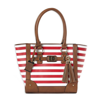 Bulldog Cases Tote Style Purse Holster, Fits Most Small Autos, Leather, Cherry Red and White BDP-051, UPC :672352011517
