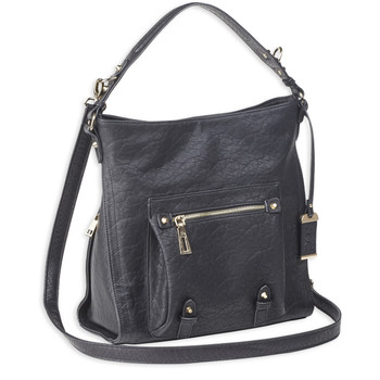 Bulldog Cases Hobo Anna Purse Holster, Fits Most Small Autos, Leather, Black BDP-053, UPC :672352011487