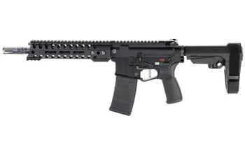 "Patriot Ordnance Factory Renegade Plus, Semi-automatic Pistol, 223 Rem/556NATO, 10.5"" Puritan Barrel, 1:8 Twist, Black Finish, SB Tactical SBA3 Brace, 30Rd, 1 Magazine, MLOK Renegade Rail, Triple Port Muzzle Brake, POF-USA 3.5lb Drop-in FLAT Trigger,"
