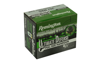 Remington Ultimate Defense, 357 MAG, 125 Grain, Brass Jacketed Hollow Point, 20 Round Box 28920, UPC : 047700474007