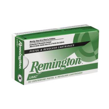 Remington UMC, 40S&W, 180 Grain, Full Metal Jacket, 50 Round Box 23742, UPC : 047700077307