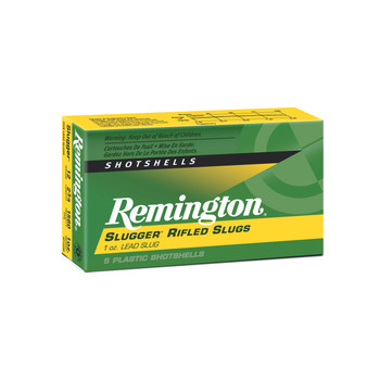 "Remington Slugger, 12 Gauge, 2.75"", 1oz, Rifled Slug, 5 Round Box 20300, UPC : 047700020907"
