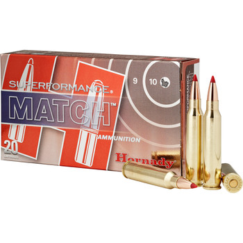 Hornady Superformance Match, 223 Rem, 73 Grain, Boat tail Hollow Point, Match, 20, 200 80259, UPC : 090255802597