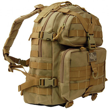 "Maxpedition Condor II Backpack, 17.5""X14""X6.5"", Khaki 0512K, UPC :846909001607"