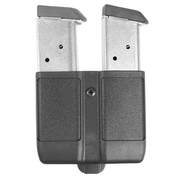BLACKHAWK! CQC Double Magazine Case, Single Row, Matte Black 410510PBK, UPC :648018127267