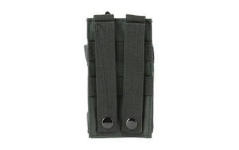 NCSTAR Single AR Magazine Pouch, Nylon, Black, MOLLE Straps for Attachment, Fits One AR Style Magazine CVAR1MP2929B, UPC :814108016487