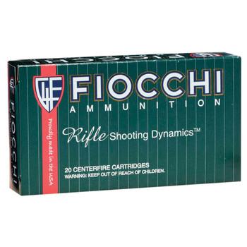 Fiocchi Ammunition Rifle, 308WIN, 150 Grain, Pointed Soft Point, 20 Round Box 308B, UPC :762344705637