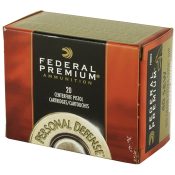 Federal Hydra-Shok, 40S&W, 165 Grain, Hollow Point, 20 Round Box P40HS3, UPC : 029465089467