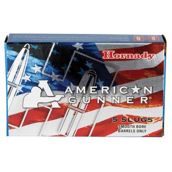"Hornady American Gunner, 12Ga 2.75"", 1 oz, Rifled Slug, Low Recoil, 5 Round Box 86231, UPC : 090255862317"