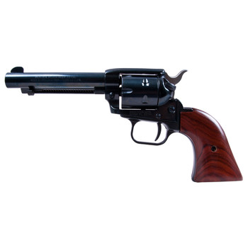 """Heritage Rough Rider, Single Action Army Revolver, 22LR/22WMR, 4.75"""" Barrel, Alloy Frame, Blue Finish, Wood Grips, Fixed Sights, 6Rd, Right Hand 22MB4, UPC :727962500217"""