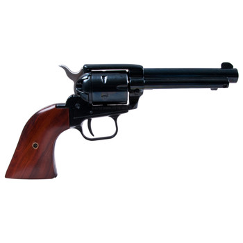 "Heritage Rough Rider, Single Action Army Revolver, 22LR/22WMR, 4.75"" Barrel, Alloy Frame, Blue Finish, Wood Grips, Fixed Sights, 6Rd, Right Hand 22MB4, UPC :727962500217"