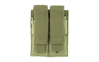 NCSTAR Double Pistol Magazine Pouch, Nylon, Green, MOLLE Straps for Attachment, Fits Two Standard Capacity Double Stack Magazines CVP2P2931G, UPC :814108017187