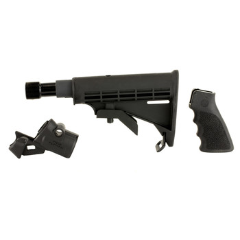 Mesa Tactical LEO Recoil Stock Kit , Fits Mossberg 500/590, Includes LEO Stock Adapter, Enidine Recoil Buffer, Standard A2 Collapsible Stock, and Hogue Grip, Black 93220, UPC :878405001287