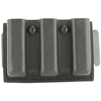 "Safariland Model 775 Slimline Open Top Triple Magazine Pouch, For 2.25"" Duty Belts, Fits Glock 17, Belt Loop, Hardshell STX, STX Tactical Black Finish 775-83-13, UPC :781607155767"
