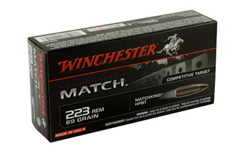 Winchester Ammunition Match, 223 Rem, 69 Grain, Boat Tail, Hollow Point, 20 Round Box S223M2, UPC : 020892220157