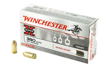 Winchester Ammunition USA, 380ACP, 95 Grain, Brass Enclosed Base Clean, 50 Round Box WC3801, UPC : 020892212237
