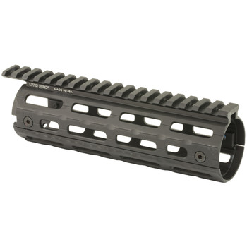 Leapers, Inc. - UTG UTG PRO Super Slim Drop In MLOK Rail System, AR-15, Carbine Length, Black MTU001SSM, UPC :4717385552937