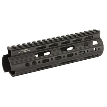"Leapers, Inc. - UTG Rail System, 7"", Carbine Length, Super Slim Free Floating Handguard, Single Extended Top Rail, Black Finish MTU005SS, UPC :4717385550117"