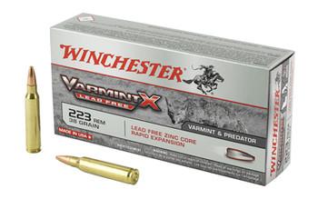 Winchester Ammunition Varmint X Lead Free, 223 Rem, 38 Grain, Varmint X Lead Free Hollow Point, 20 Round Box X223PLF, UPC : 020892223127