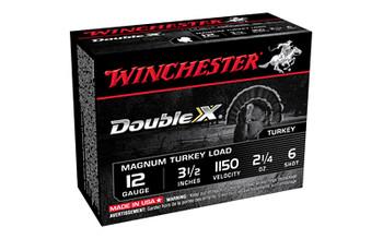 """Winchester Ammunition Double X Magnum, Turkey, 12 Gauge, 3.5"""", #6, 2.25oz, 10 Round Box XXT12L6, UPC : 020892007307"""