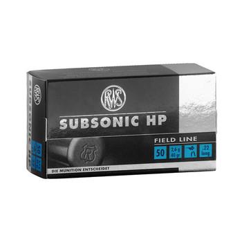 RWS/Umarex 22LR, 40 Grain, Hollow Point, Subsonic, 50 Round Box 2132664, UPC :4000294132667