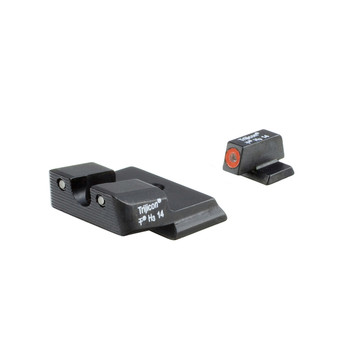 Trijicon HD Tritium Night Sight, Fits SW MP Shield, Orange Outline SA139-C-600722, UPC :719307211957