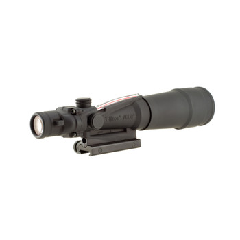 Trijicon ACOG Rifle Scope, 5.5X50, Red Chevron Reticle .308, Includes Flattop Adapter, Matte Finish TA55A, UPC :719307302037