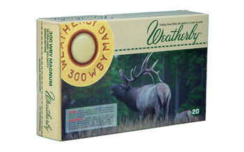 Weatherby Select Plus Ammunition, 300 Weatherby, 180 Grain, Nosler Partition, 20 Round Box N300180PT, UPC :747115020447