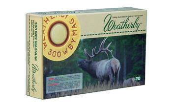 Weatherby Select Plus Ammunition, 300 Weatherby, 180 Grain, Nosler Partition, 20 Round Box N300180PT, UPC :747115020447