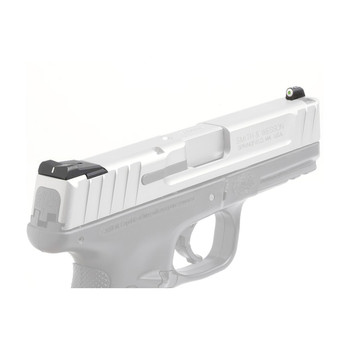 XS Sights XS Sights, DXW Big Dot Tritium Front, White Stripe Express Rear, Fits SW MP (not C.O.R.E), Green with White Outline, Installation Kit Included SW-0019S-3, UPC :647533036337