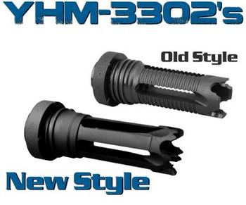Yankee Hill Machine Co Phantom 7.62 Quick Detach Flash Hider, 762NATO, 5/8x24, Aggressive, Fits AR Rifles, Black Finish YHM-3302-24A, UPC :816701016307