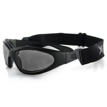 Bobster GXR Sunglasses-Matte Black Frame with Smoked Lens, UPC :642608014517