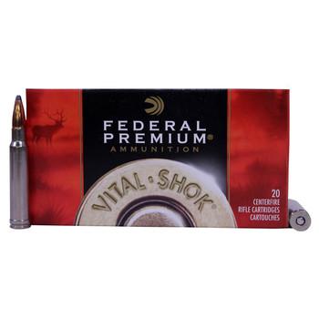 Federal Premium Vital-Shok Ammunition 338 Winchester Magnum 250 Grain Nosler Partition Box of 20, UPC : 029465084837