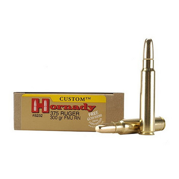 Hornady Dangerous Game Superformance Ammunition 375 Ruger 300 Grain Round Nose Solid Box of 20, UPC : 090255382327