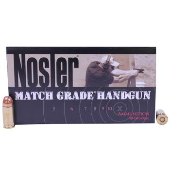 Nosler Match Grade Ammunition 9mm Luger 124 Grain Jacketed Hollow Point Box of 50, UPC : 054041510547